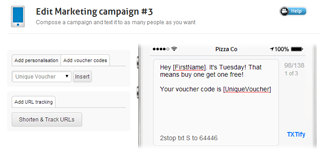 SMS campaign creation